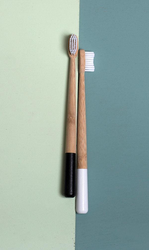 To Jungle Bamboe Tandenborstel zwart wit