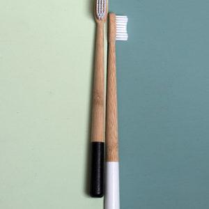Tandenborstel Bamboe – zwart/wit