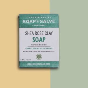 Shea Rose Clay Complexion Bar plasticvrij