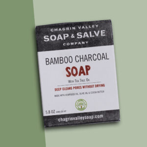 Bamboo charcoal soap bar