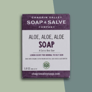 Aloe Aloe Aloe soap bar
