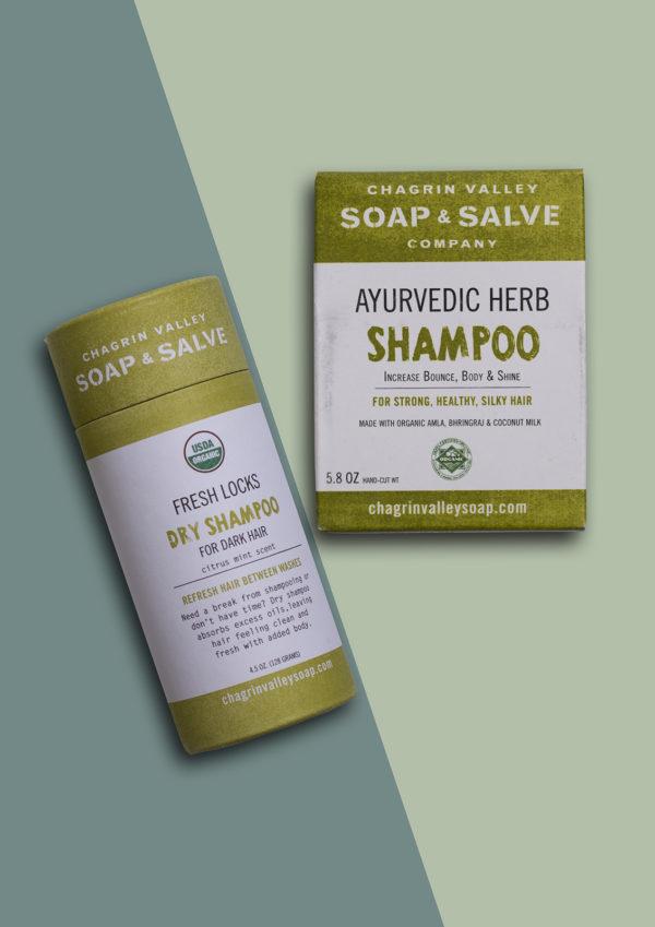 Natuurlijke Droogshampoo donker haar ayurvedic shampoo bar