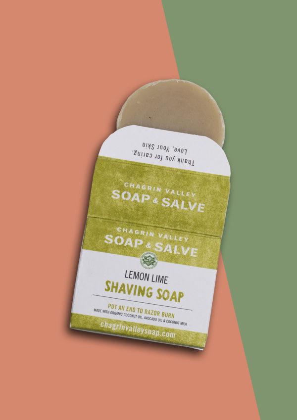 scheer zeep half uit de verpakking