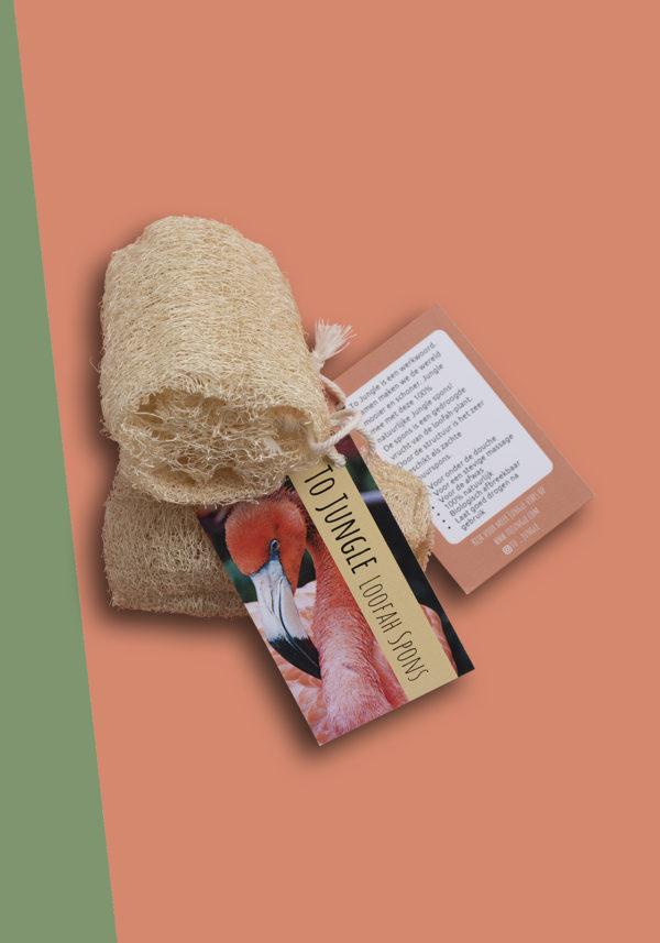 Loofah To Jungle spons 100% natuurlijk, vegan, biologisch afbreekbaar, plasticvrij. Voor douche of keuken