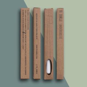 Tandenborstel Bamboe – zwart/wit/grijs