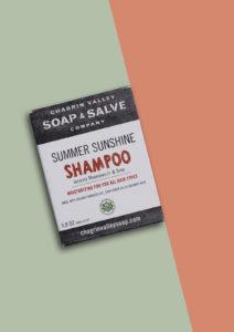 Summer Sunshine Solid Shampoo Bar natuurlijk plastic vrij vegan