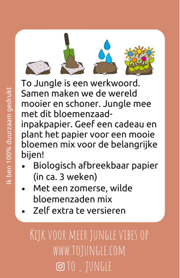 to jungle inpakpapier bloemzaden bijen